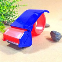 bear factory shop - 5pcs cm Plastic tape dispenser red and blue mixed tape cutter for shop factory or office use