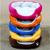 Wholesale New arrival pet dog cat cotton kennel pet house pet warm bed red orange blue yellow brown color