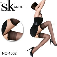 nylon stockings - new fashion women stocking over knee D super thin elasticity silica gel skid proof transparent Brand stockings tights