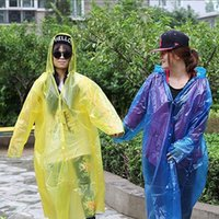 Wholesale New Hot Sale Disposable Raincoat Adult Emergency Waterproof Hood Poncho Travel Camping Must Rain Coat Unisex