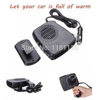 Wholesale 2 in Hot Cold V Car Auto Vehicle Portable Ceramic Heater Heating Cooling Fan Defroster Black