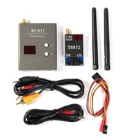 Wholesale Boscam FPV G Ghz mW Channels Wireless A V transmitter and receiver TS832 RC832 Tx Rx Set for aircraft KM range