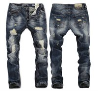american h - h New Brand New Men s long jeans hot sell Straight Designer men Jeans Trousers of Straight Designer Jeans Size RL620