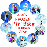 Wholesale 2014 Alargador De Orelha All free Shippping cm Frozen Design Badge pin Badg tin Badge button Badge Cartoon Logo