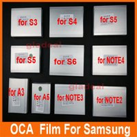 Wholesale 50x um OCA Optical Clear Adhesive Glue Film Double Side Sticker s6 s5 s4 Note LCD Repair Touch Screen Laminator Machine