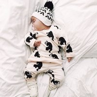 bebe white romper - New Autumn Fashion baby boys girls clothes set long sleeved cartoon Newborn baby Romper jumpsuit roupas de bebe hight quality