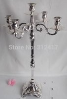 Wholesale Hotsale cm high lights silver plated candelabra for wedding silver gold candelabra chandelier candelabra centerpieces