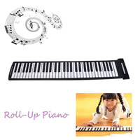 Wholesale Portable USB MIDI Electronic Keyboard Hand Roll Piano Keys Flexible Roll Up Piano Kids Children Musical Instrument Toy Gift