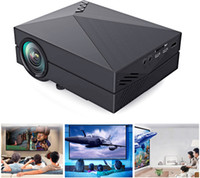 Wholesale 2015 GM60 Mini Projector LCD LM x Resolution AV USB HDMI VGA SD Home and outdoor theater cinema projector proyector
