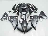 Yzf r1 12 France-Plactics Carénages Pour Yamaha YZF1000 <b>YZF R1 12</b> 13 2012 2013 Plastiques ABS Carénages Moto Carénage Complet Carrosserie Cowling Flat Noir