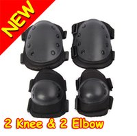Wholesale Brand New Brand New USMC SWAT Tactical Knee Elbow Supports Brace CQB Protective Pads Set Knee Elbow Hot Promotion