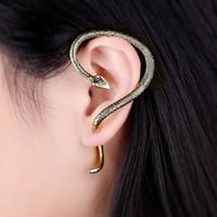 Wholesale Hot selling retro earrings snake winding exaggerated ear hanging Earrings female Male J0084