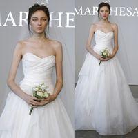 Custom Made A Line 2015 Robes de mariée élégantes Plus Size Sweetheart manches tribunal Train Fleurs Ruffles blanche Robes de mariée en mousseline de soie