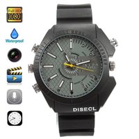 Wholesale HD P GB Spy Watch Camera Waterproof Hiddem Camera Wristwatch IR Night Vision Security Camcorder Spycam W3000