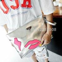Wholesale 2015 New Arrival Lady Handbag Shoulder Bag Purse New Fashion soft PU Leather Women Messenger Hobo lips bag