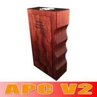Wholesale Newest APC Wood Box Mod Wood V2 Dual Battery Mod vs Sigelei w plus Cloupor mini eleaf istick Tesla Invader II
