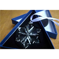 Wholesale Swarovski Christmas Star Crystal Large Snowflakes Ornaments New Annual Edition Ornament Car Accessories Car Pendents
