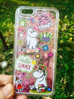 beautiful sand - Beautiful Lovely Cartoon Moomin Case Drift Sand Case Hybrid PC For iphone G P love Mobile Phone Case