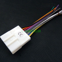 Wholesale 50pcs Car CD Audio Stereo Wiring Harness Antenna Adapter For Nissan Subaru Infiniti Install Aftermarket CD DVD Stereo