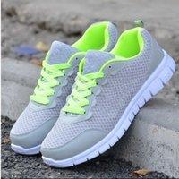 Wholesale NEW Leisure Breathable men s Mesh gray shoes Leisure Sport shoes Women Running shoes eu size