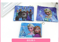Wholesale hot sale latest anime wallet Frozen Cartoon wallets Snow and ice queen pu coin bag cm W177