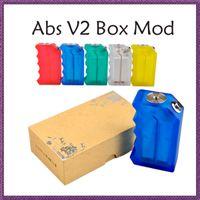 50pcs ABS V2 Boîte Mod CLONE Acrylique ABS Box Mod Fit 18650 Batterie ecig Vape VS Dimitri Boîte Clouper Mod Modérateur Cherry Bomber