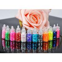 Wholesale Beauty Accessories PcsSet Mini Bottle Glitter Nail Art Powder Dust Tip Rhinestone Manicure Decorations PHJ0215