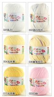 Wholesale LCP01B Balls Cashmere Cotton Silk Soy Baby Knitting Yarn Sweater Silk wool cashmere warm soft baby yarn Knitting