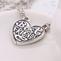 best personality - 2016 Trend Hot Personality Best Friends Love Couple Necklace Heart shaped High grade Alloy Jewelry For Men and Women ZJ