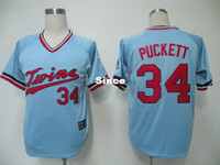 baby kirby - 30 Teams Minnesota Twins Jerseys Kirby Puckett Jersey Baby Blue Shirts Throwback Vintage Retor Baseball Jersey