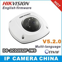Wholesale 2014 New Hikvision dome camera DS CD2532F I S W audio Wifi MP Mini dome Up to m IR Network camera DS CD2532F IWS