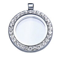 Wholesale hot sale high quality mm floating locket pendant with crystals magnetic floating charm locket