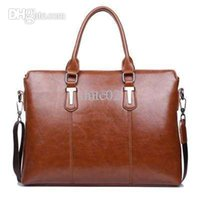 Wholesale New Fashion Brands Mens Genuine Leather Bag High end Business Men Briefcase Mens Messenger Bags Vintage Crossbody Bags