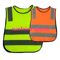 Wholesale Kids Reflective Vest Child Size Safety Jacket Polyester Reflective Strips Orange Blue Red Neon Yellow Green