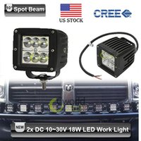 Cheap 2x CREE 18W LED Work Light Bar 6*3W 60 Degree Spot Beam Daytime Running Light 12V 24V 4x4 Truck ATV UTV SUV