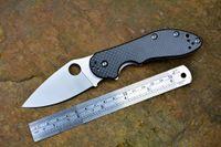 bear - Spyderco C172 folding knife C satin blade ball bearing washer TC4 Carbon fiber handle camping hunting outdoors survival knife EDC tool