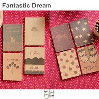 Wholesale Fantastic dream notebook Vintage Crayon diary book Portable agenda stationery caderno escolar material School supplies