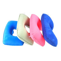 Adults air traveling - Portable U Shaped Pillow Inflatable Neck Protective Air Cushion Traveling Trip Accessories os175