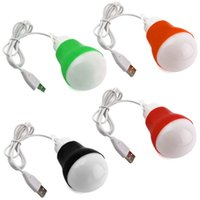 Wholesale 2015 new fashion DC V W USB Power mini Portable white lamp Reading LED Bulb USB Light Flashlight