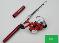 Cheap Fishing Spinning Rods Pen Shape Portable Pocket Aluminum Alloy Fishing Fish Rod Pole With Reel ,Creek Fishing Rod Tackle Tool