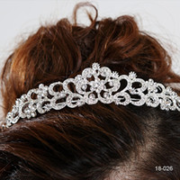 Wholesale 2015 Amazing Crystal Bridal Crown Tiara K White gold plated metal Hair Comb for Wedding Bridal Fashion Design Cheap In Stock