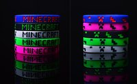 jelly bracelets - Minecraft Bracelets men women sports Silicone Jelly Glow Bracelet Party Supplies Favors gifts wristband bangle rope