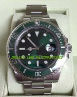 Luxury analog style boxes - Luxury WATCH Stainless steel strap NEW Ceramic Green HULK Box New Style White Card mm