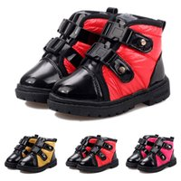 Wholesale Hot Fashion Winter Children Snow Boots Thick Warm Unisex Shoes For Boys Girls Boots Kids Flat Shoes Asia Size VX0104 Kevinstyle