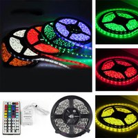Wholesale 2016 Dining Room Limited Room Smd Top Fashion v mm Ccc led Light Strip m Rgb Led Non waterproof Flexible Dc12v key Remote