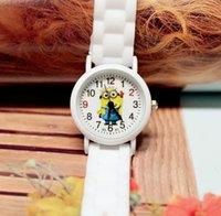 animal watch straps - Minions Silicone Strap Boy Girls Wristwatch Despicable Me Kids Yellow Minion Watch Children D Cartoon watches