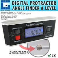 Wholesale AG B Digital Angle Finder Level Protractor Inclinometer Magnetic V Groove degree with Backlight Industrial Automotive Use
