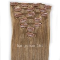Wholesale Brazilian Remy Human Hair extensions Weft quot g Ash Blonde Straight Grade A Peruvian Indian Malaysian Clip in Hair Bundles
