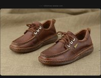 beef trade - The new beef tendon bottom round head with leather foreign trade the original single men s leather shoes sneakers Martin