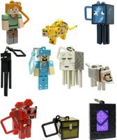 toys - Minecraft Hangers Series My World Key Toy Minecraft Steve JJ strange movable cooly fear key buckle Creeper Figure Backpack Keychain Clip